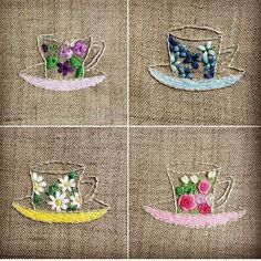 cups and flowers