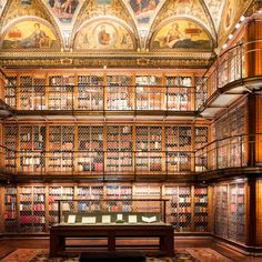 Check out this slideshow JP Morgan's Old-World Library in this list Museum Love