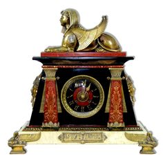 Antique Egyptian Revival Clock