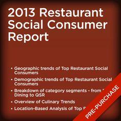 2013 Restaurant Social Consumer Report Industry Research, Top Restaurants, Consumer Reports, New Age, Day