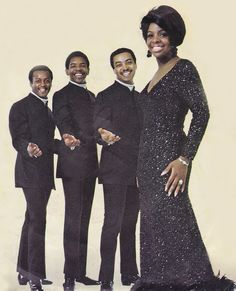 """Midnight Train to Georgia"" quartet Gladys Knight & The Pips"