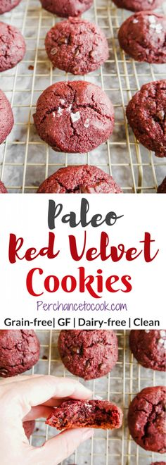 Paleo Red Velvet Cookies (GF) | Perchance to Cook, www.perchancetocook.com