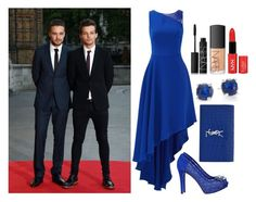 """Cinderella with Louis (Fiancee) and Liam (BFF)"" by suravidas ❤ liked on Polyvore featuring Halston Heritage, GUESS, Yves Saint Laurent, Ippolita and NARS Cosmetics"