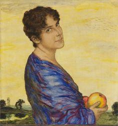 Franz von Stuck - Bildnis Frau von Stuck (1914)