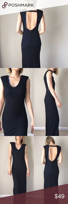 "Zoey feeling strong open back dress To all the  girl bosses out there.. Well made top quality Androgynous and chic. Line and padded shoulder dress. A structured maxi dress full length .well made top quality.98%rayon 2%spandex .S:Long; 60"" bust 16"" w: 15"" M; Long 61"", bust, 17"" w: 16 sexy. ❤️❤️❤❤️️👉🏼Follow me on  📸INSTAGRAM: @chic_bomb  and 💁🏻📘FACEBOOK: @thechicbomb❤️❤️❤️❤️ CHICBOMB Dresses Maxi"