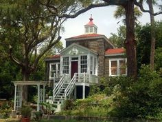 A Very Cool Beach House. A very special house... a Folly Beach landmark. Two blocks from the ocean and one block from Folly Beach's town center, you can par...