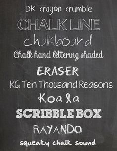Home Is Where the Art Is ~ Everyday - Free Chalkboard fonts