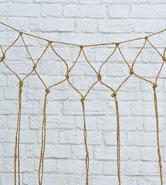 Fishnet DIY: How To Make A Decorative Fishnet