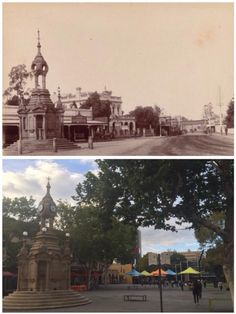 Centennial Clock and Town Hall, Church St, Parramatta 1898>2015. [1898-State Library NSW>2015-Curt Flood]