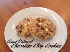 Giant Oatmeal Chocolate Chip Cookies via @thestephaniejns
