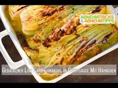 Gebackener Low Carb Chinakohl in Hähnchen-Curry-Sauce - Low carb - Cabbage with a difference! Now in the cold season there is cabbage in abundance, so today we have an exotic low carb chinese cabbage recipe for you. Chicken Appetizers, Healthy Appetizers, Chicken Curry Sauce, Sauce Recipes, Diet Recipes, Baked Cabbage, Quick Chicken Recipes, Chinese Cabbage, Low Carb Lunch