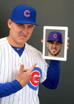 """The """"Bryzzo Souvenir Company"""" — founded by Cubs All-Stars Kris Bryant and Anthony Rizzo — is just for fun . Chicago Cubs Baseball, Baseball Boys, Baseball Couples, Baseball Girlfriend, Baseball Quotes, Baseball Birthday, Kentucky Basketball, Sports Basketball, Duke Basketball"""
