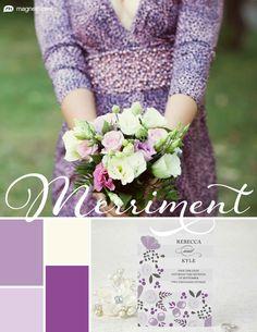 Custom Lavender, Ivory, Lavender, and Plumeria Spring Wedding Color Palette | Wedding Color Trends | MagnetStreet Weddings
