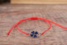 Evil Eye Bracelet Red String Amulet Clover Good Luck Lucky, Women, Men, Children #Handmade #Friendship