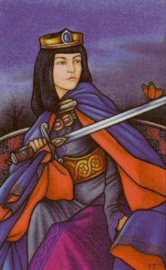 Queen of Swords - Connolly Tarot