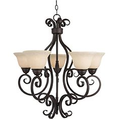 Pyramid Creations Manor 25.5-In 5-Light Oil-Rubbed Bronze Chandelier 41533763