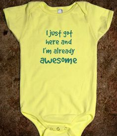 Baby Clothes - Awesome -
