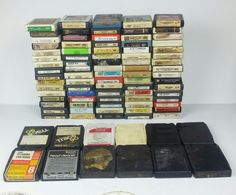 8 Track Tape Lot of 90 Classic Country Pop Rock Untested Unmarked Cartridges  #CountryPopCountryRockPopRock