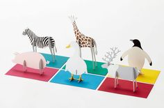 """Images of Standing Message Card """"post Animal"""" by Katsumi Tamura"""