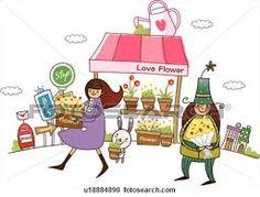 marché fleurs dessin - Recherche Google