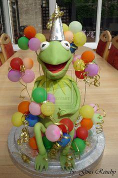 Kermit The Frog Cake by ginas-cakes.deviantart.com on @deviantART