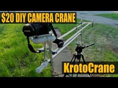 ▶ DIY Camera Crane / Jib $20 - KrotoCrane - YouTube - Guy gives complete instructions on making your own crane.  It is used for making smooth transition shots - going low and high.