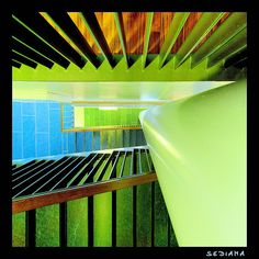 green and blue #staircases