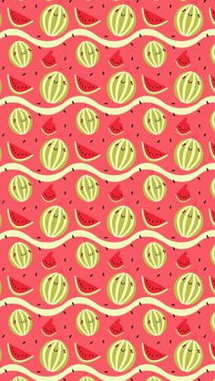 Watermelons - tap to see cute food cartoon wallpaper for foo Cool Wallpapers For Phones, Cute Wallpaper For Phone, Kawaii Wallpaper, Cartoon Wallpaper, Cute Wallpapers, Iphone Wallpapers, Watermelon Cartoon, Fruit Cartoon, Food Cartoon