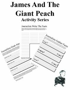 Worksheets James And The Giant Peach Worksheets worksheets writing and creative on pinterest