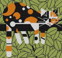 Charley Harper Needlepoint | Limp On A Limb Charley Harper Needlepoint Features: