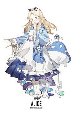 [ Disney Princesses X Kimono ] - Alice #Disney_Princesses