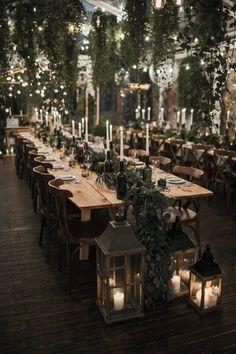 44 Unique Winter Wedding Reception Centerpieces Ideas Unique Ideas for Wedding Receptions in Winter Trendy Wedding, Perfect Wedding, Dream Wedding, Wedding Day, Long Wedding Tables, Wedding Scene, Long Table Reception, Formal Wedding, Twilight Wedding