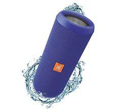 JBL Flip 3 Splashproof Portable Bluetooth Speaker, Blue (...