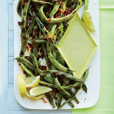 Cast-Iron-Grilled Romano Beans with Garlic Aioli   Food & Wine