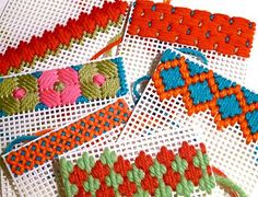 Plastic Canvas in progress by gingerbread_snowflakes, via Flickr