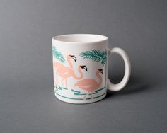 Funky Pink Flamingo Summer Mug