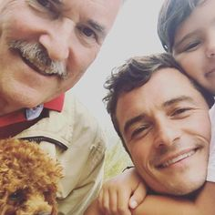 Sweet Orlando and his son Flynn with Orlando's daddy :)