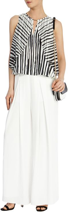 Womens black and white st tropez crop top from Coast - £49 at ClothingByColour.com