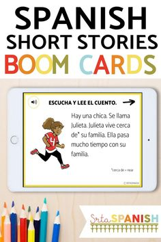Spanish students will love these beginner Spanish short stories. They have high frequency verbs for novice learners which is great for comprehensible input and an audio option for them to listen while they read along - great for listening practice! You'll love this no prep Spanish teaching resource for elementary school, middle school, and high school classrooms. Click to learn more about these digital and printable Spanish stories for your Spanish classes! Spanish 1, Spanish Class, Middle School Spanish, Spanish Teaching Resources, Spanish Lesson Plans, School Classroom, Comprehensible Input, Short Stories, Elementary Schools
