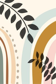 Digital print in boho style for living room decoration