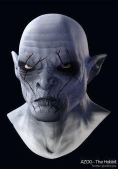 My 3D artwork Azog fro The Hobbit (Blender 3D & Krita)