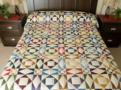 Storm at Sea Quilt -- outstanding made with care Amish Quilts from Lancaster (hs6802)