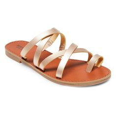 Women's Lina Slide Sandals - Mossimo Supply Co. Gold 8.5