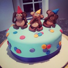 3 Wise Monkey's Themed Cake - Sugarlicious Cakes By Helen