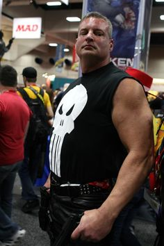 The Punisher, gold star for the costume, two gold stars for looking the part so - three gold stars.