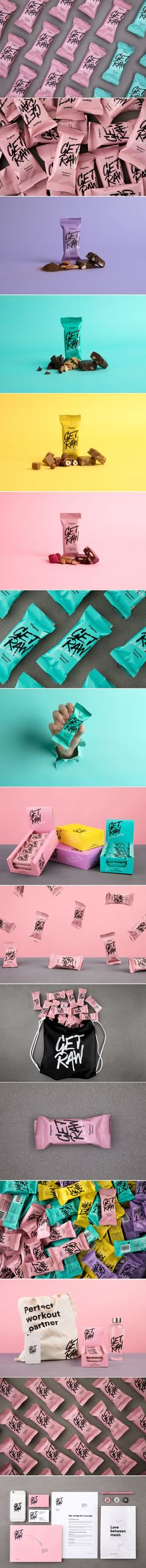 Get Raw is a Healthy Snack Bar With a Bold Color Scheme — The Dieline | Packaging & Branding Design & Innovation News