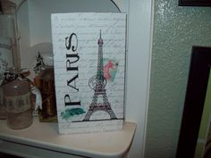 Large Eiffel Tower block shelf sitter sign Paris decor,shabby chic,Paris bedroom decor,French bedroom,Paris apartment