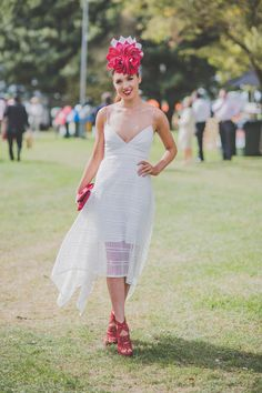 Fashions on the Field Winner 2016 - Melbourne Spring Racing - Lots of fashion and millinery. Racing Baby, Dresses For The Races, Spring Racing, Frocks, Fields, Lady, Photography, Beautiful, Fashion