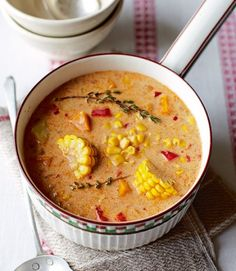 Jamaican spiced corn soup **