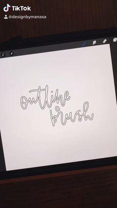 Procreate Brushes Download, Best Procreate Brushes, Ipad Art, Digital Art Tutorial, Posca, Lettering Design, Digital Illustration, Tricks, Apple Products